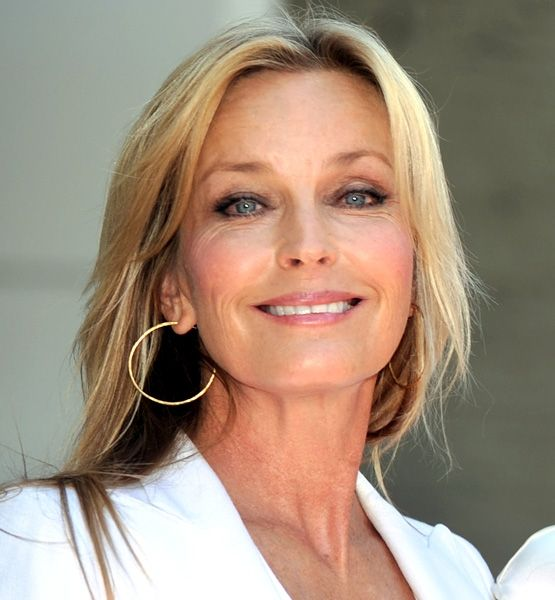 Bo Derek / not quite sixty.. she's only 58!  She once broke hearts running down a beach in a red bathing suit and cornrows.  Bo Derek represents the new Golden Years.""