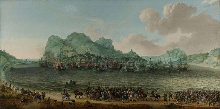 De overwinning op de Spanjaarden bij Gibraltar door een vloot onder bevel van admiraal Jacob van Heemskerck, 25 april 1607, Adam Willaerts, 1617