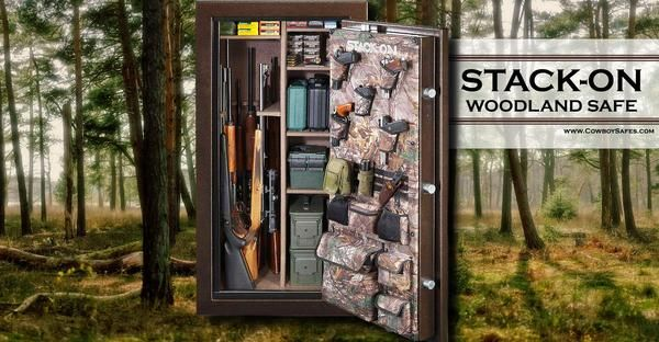 Stack-On 40-Gun Fire Resistant Back-Lit Electronic Lock Safe. Stack-On is well-known among Gun Owners for their Quality and Affordable Safes - CowboySafes.com