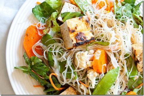 This Thai Tofu Salad with Peanut Dressing looks so refreshing for spring/summer!