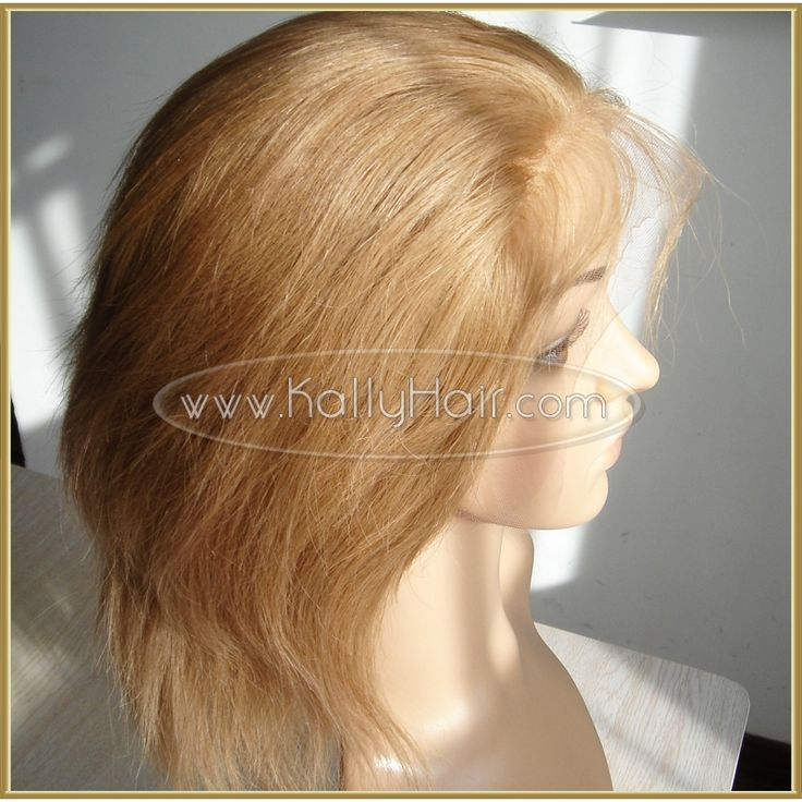 Straight Silk Lace Front Remy Virgin Human Hair Wigs