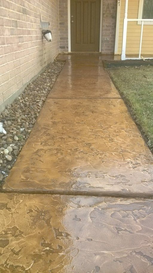 Marvelous Concrete Resurfacing On Front Walkway And Porch   Houston TX (Covered Patio  Step)