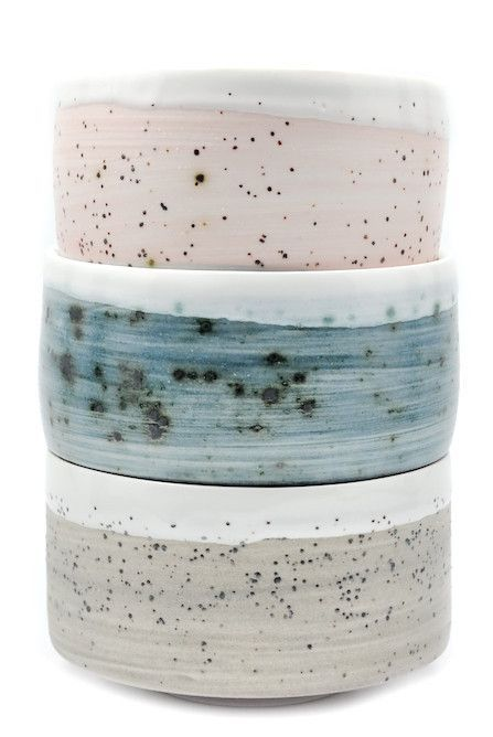 Fiess Tea Bowls by Leif in collaboration with Ben Fiess, crafted individually by hand