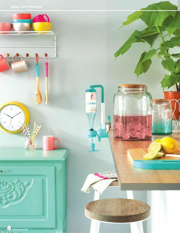 Colorful kitchen accessories - present time catalog.