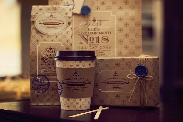"""Cafe-bakery """"Galician strudel"""" on Packaging Design Served"""