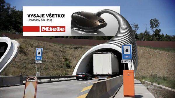 Virtuální billboard Miele