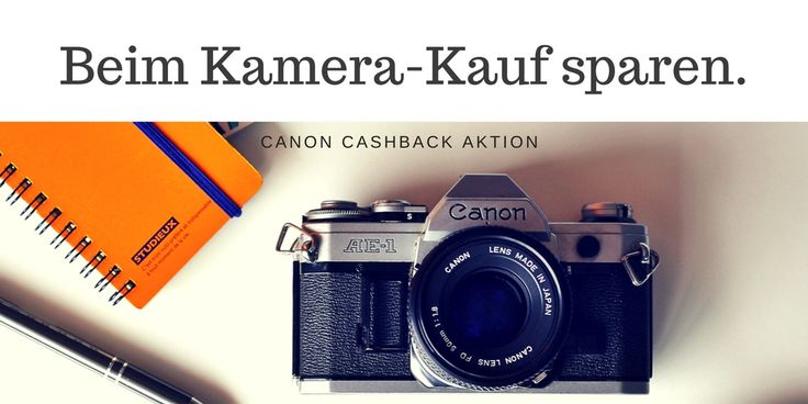Perfekte Kamera für tolle Urlaubsfotos: Jetzt beim Kauf einer Canon Kamera sparen - bis zu 160 Euro Geld zurück durch die Canon Cashback Aktion in Kooperation mit Media Markt.