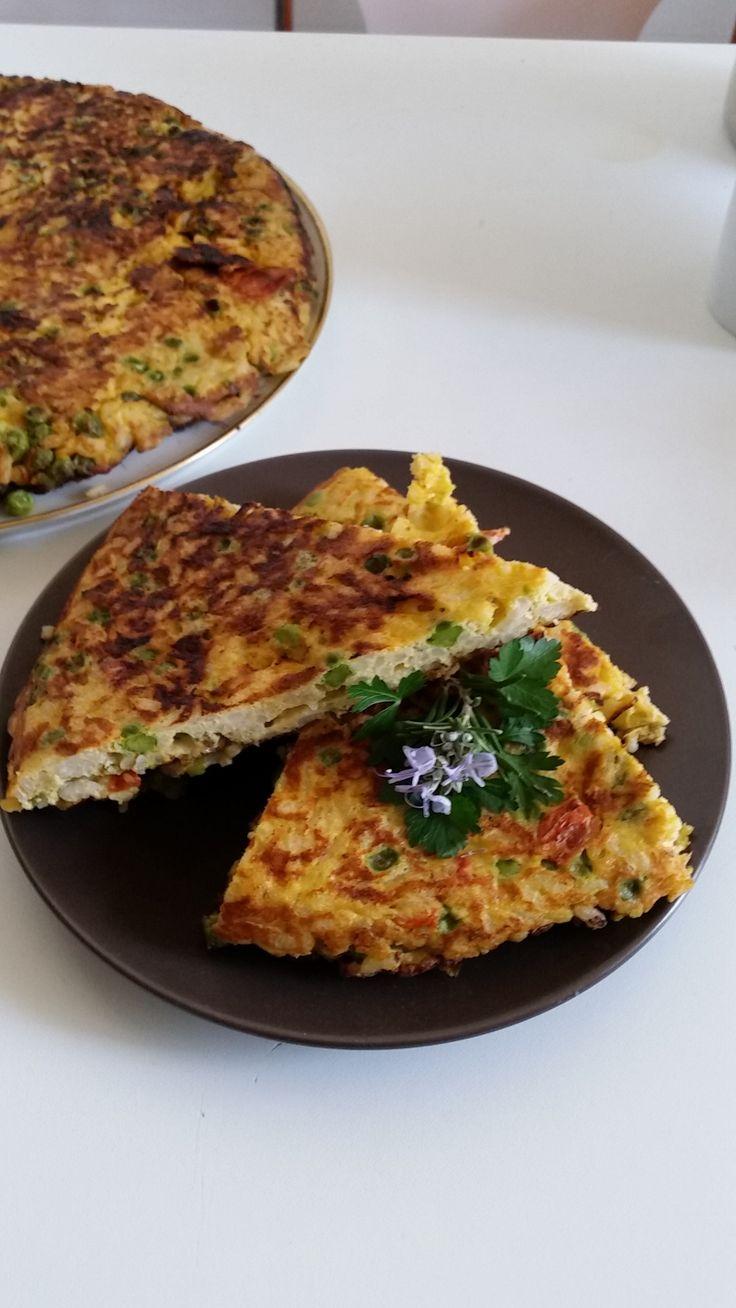 Savoury pie recipe with rice and peas - the Spring dish - http://easyitaliancuisine.com/savoury-pie-recipe-with-rice-and-peas/