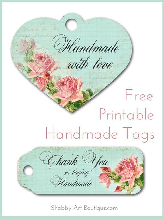 Shabby Art Boutique - Free Printable Handmade Tags