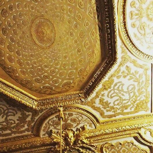 Ceiling at Versaille Palace, Paris. So much gold! Taken by Wendy Bennett. www.instagram.com/wendybennettartist
