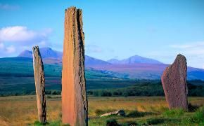 Machrie Moor Stones  / Ferries to Scotland & Scottish Isles, Caledonian MacBrayne, CalMac
