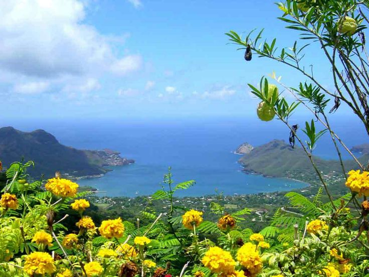 Baie de Taiohae aux Iles Marquises, Polynésie française