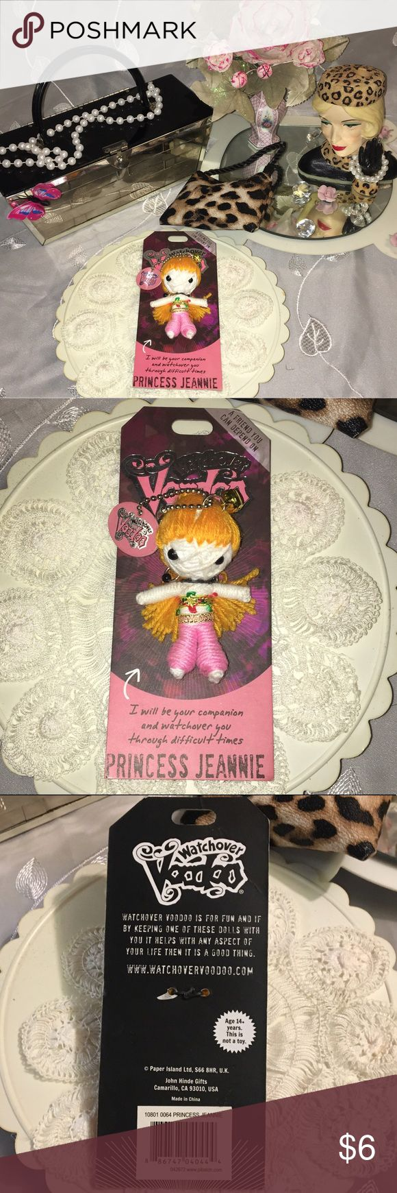 Watchover Voodoo keychain or purse pendant Adorable princess jeannie Voodoo watchover keychain or purse pendant.. Really cute and comes from a series.. new in package but no original tags.. Watchover Voodoo doll keychain Accessories