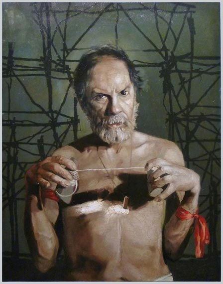 Arturo Rivera Selfportrait, 2001 oleo/tela.