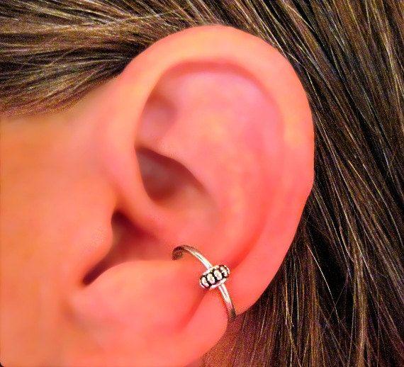 No Piercing Conch Captive Wheel Ear Cuff by ArianrhodWolfchild, $8.00
