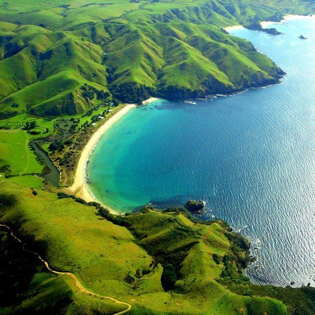Visiter la nouvelle Zélande lors de sa lune de miel, vue sur Taupo Bay