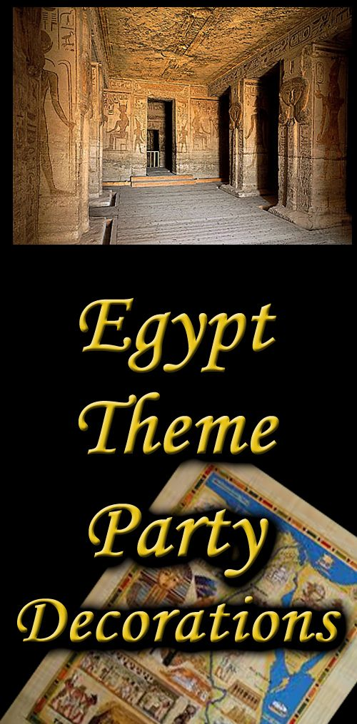 Egyptian theme party decorating ideas - plus downloadable Egyptian treasure hunt puzzles and more