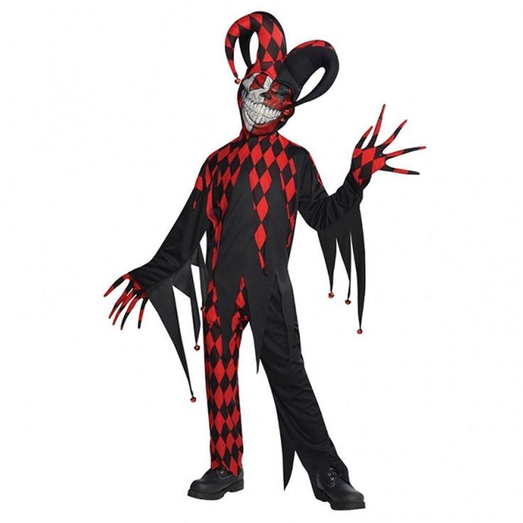 fancydressvip - Teens Jester Clown Black and Red Halloween Fancy Dress Costume, £17.99 (http://www.fancydressvip.com/teen/teens-jester-clown-black-and-red-halloween-fancy-dress-costume/)