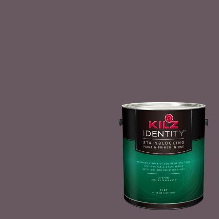 Kilz Identity Interior/Exterior Stainblocking Paint & Primer in One #RA100-01 Roasted Beet, 1 gallon
