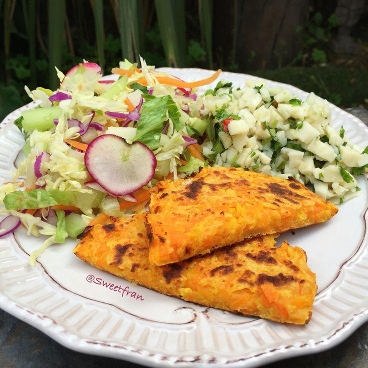 Tortilla de zanahoria sin huevos!!! Vegan omelette. Mas recetas en mi instagram que es 👉sweetfran