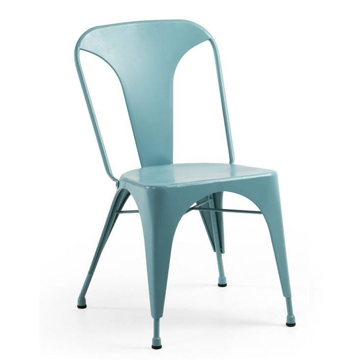 Silla comedor · Dinning room chair Theon estilo Tolix. 85x44x53 Disponible en negro, blanco y azul. Diseño industrial. #ArmonySpaceBCN