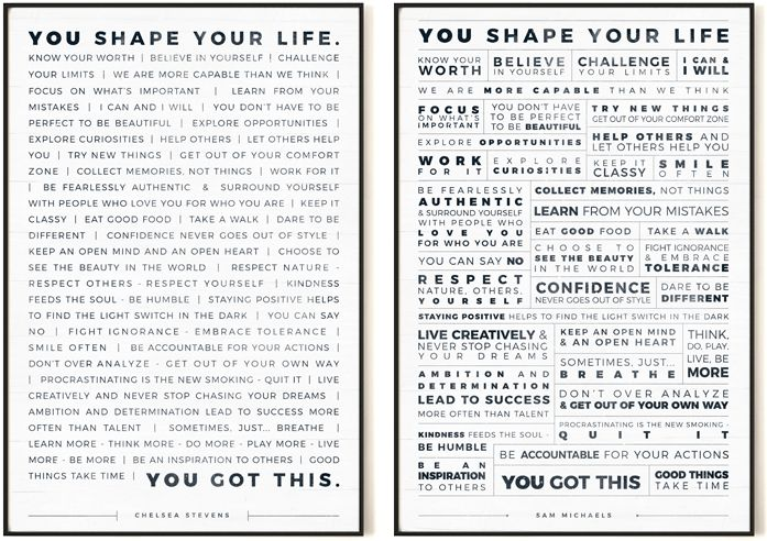 Manifesto Personalized Prints from Jibe Prints ~ Find inspiration all year long on a road to achieving your goals. #motivationalquotes #motivationalposters #officedecor #officewallart #officewalldecor