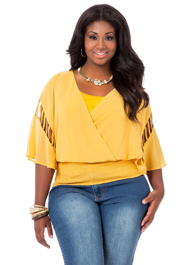 Ashley Stewart Women S Plus Size Dolman Sleeve Peasant