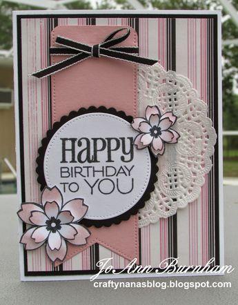 Handmade birthday card by JoAnn Burnham using the Birthday to You plain jane from Verve. #vervestamps