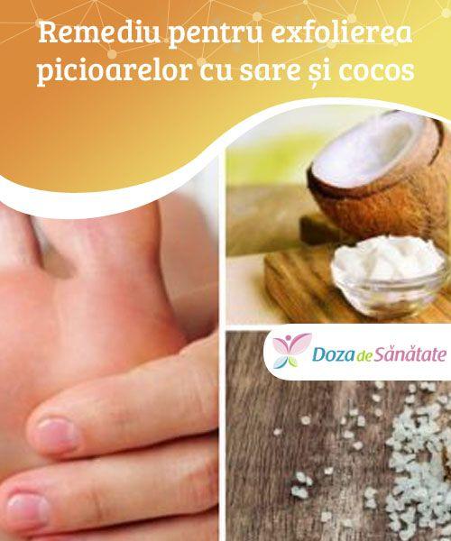 Remediu pentru exfolierea picioarelor cu sare și #cocos  Vrei să ai picioare mai fine? Nu ezita să încerci #următorul remediu naturist! Pielea ta va deveni mai moale încă de la prima aplicare. Însă dacă vrei să #îndepărtezi și bătăturile, va trebui să aplici remediul în mod #repetat.