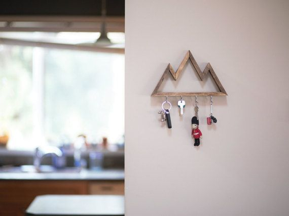 Three peak mountain keyrack Mountain shelf by ParkinHandmade