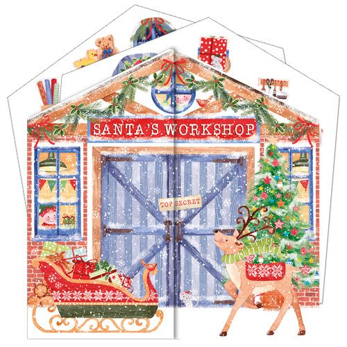 Watch the scene grow each day at Santa's Workshop when you slot in a piece during the run up to Christmas with the Santa's Workshop Advent Calendar (code ADV41) at just £7.50 and can be purchased at www.nichola.cards