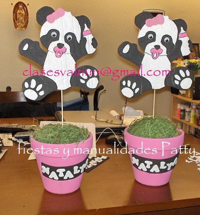 Pandas baby shower niña | Centro de mesa | Pinterest | Panda Baby ...