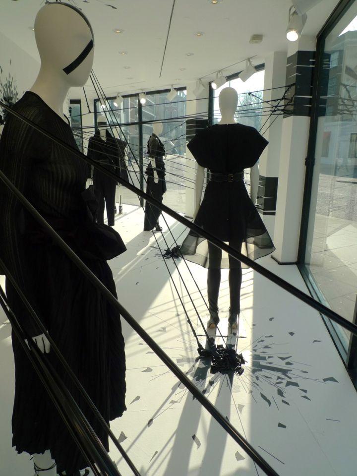 Retail Window Display- Joseph Black is the new Black windows, London - UK