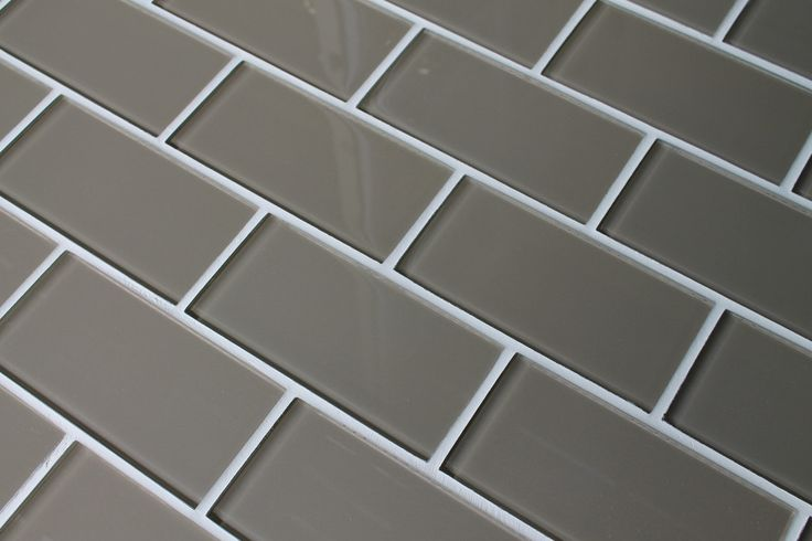 Manhattan Taupe Brown 3x6 Glass Subway Tiles Colors We