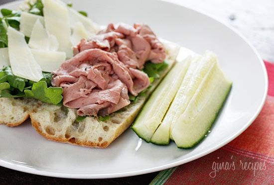 How To Make Roast Beef, Arugula and Shaved Parmesan on a Baguette