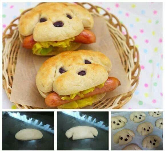 Puppy sandwiches