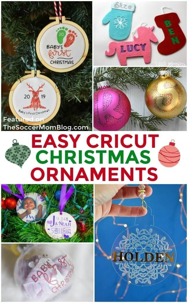 34 Awesome Easy Cricut Christmas Crafts Easy Christmas Ornaments Diy Holiday Gifts Cricut Christmas Ideas
