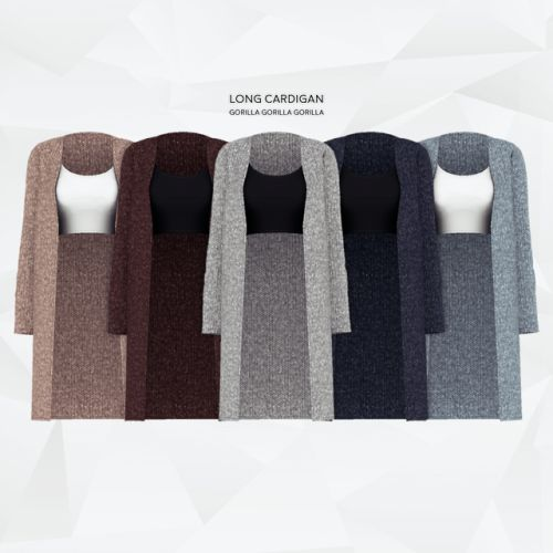 Long Cardigan for The Sims 4
