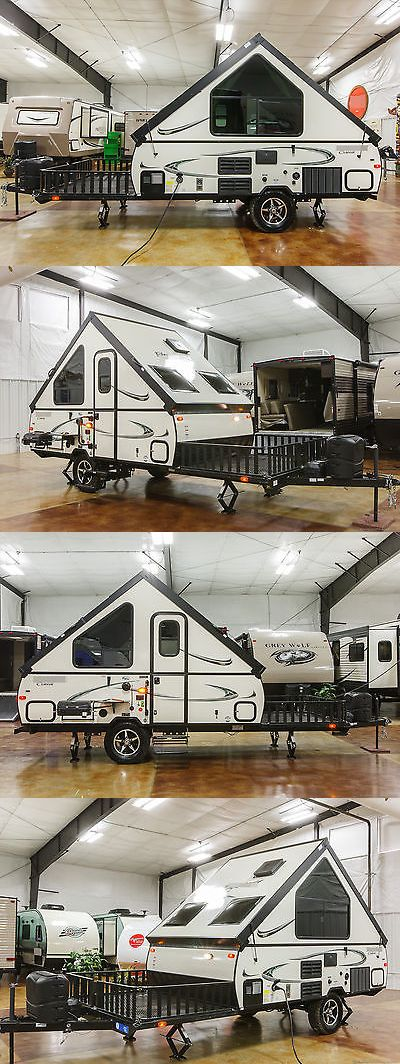 rvs: New 2017 T12rbth A Frame Hard Side Lite Fold Down Pop Up Toy Hauler Trailer Deck BUY IT NOW ONLY: $11899.0