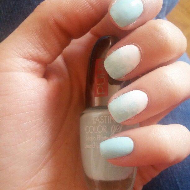 Bluepastel gradient  Pupa lasting color gel 078 Essence the gel white