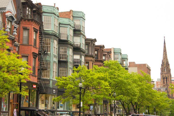 Sur Newbury Street, Boston // Shopping, yaourt glacé et jardin public