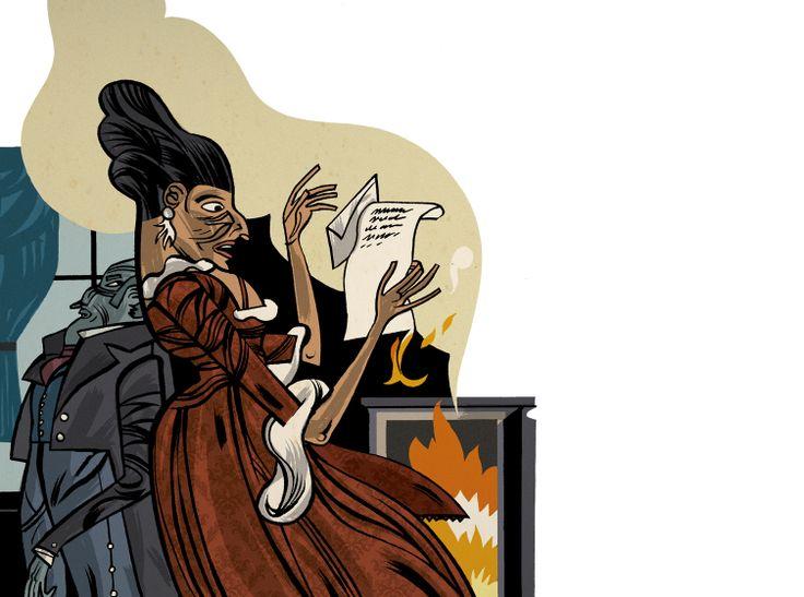 "Illustration for Jane Austen´s ""Lady Susan"""