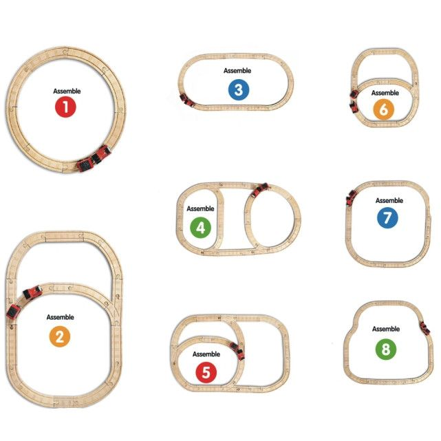 brio deluxe railway set layout instructions
