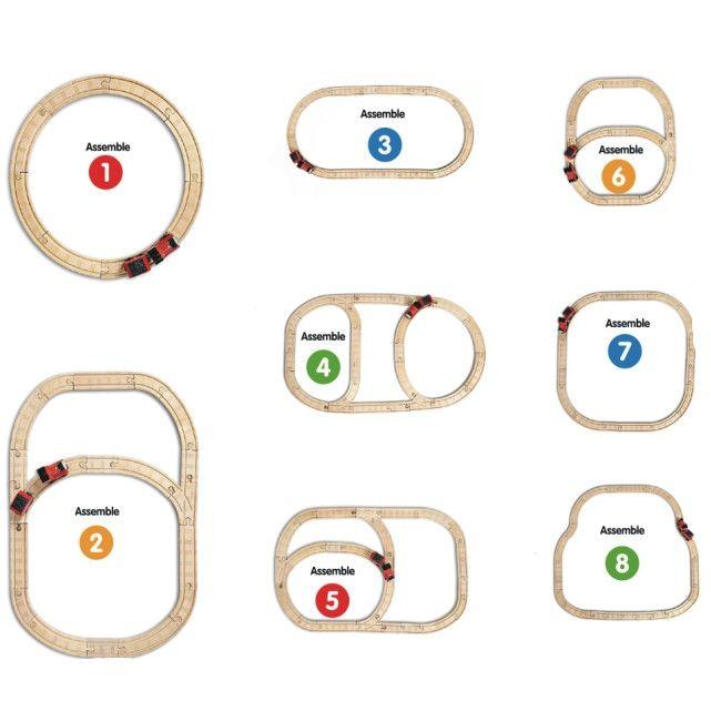 brio deluxe railway set layout instructions