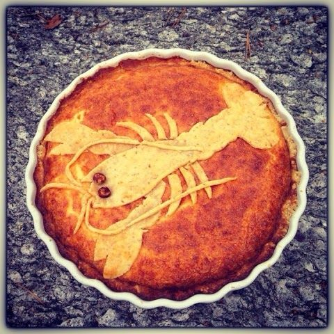 Kakbiten: traditional swedish cheese pie (västerbottenost) for a crayfish party