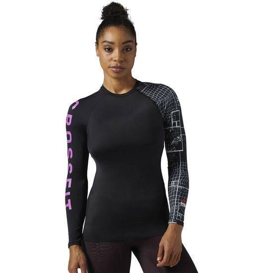 Женская спортивная футболка Reebok с длинным рукавом CrossFit Paddle BS1846  - 2017 2 b7e777763181c