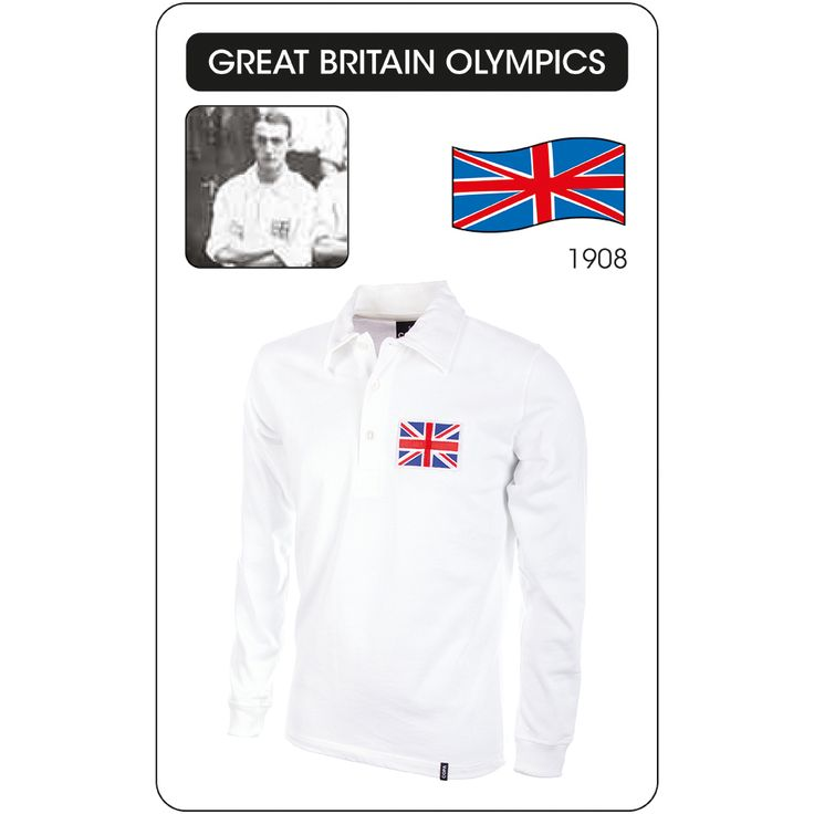 The Football Nation Ltd - Great Britain 1908 Olympics Home Retro Shirt, �39.99 (http://www.thefootballnation.co.uk/great-britain-1908-olympics-home-retro-shirt/)