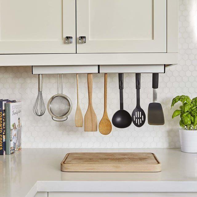 Declutter Your Kitchen Counter With This Gravity Defying 15 Find Create Kitchen Storage Kitchen Decor Apartment Kitchen Decor