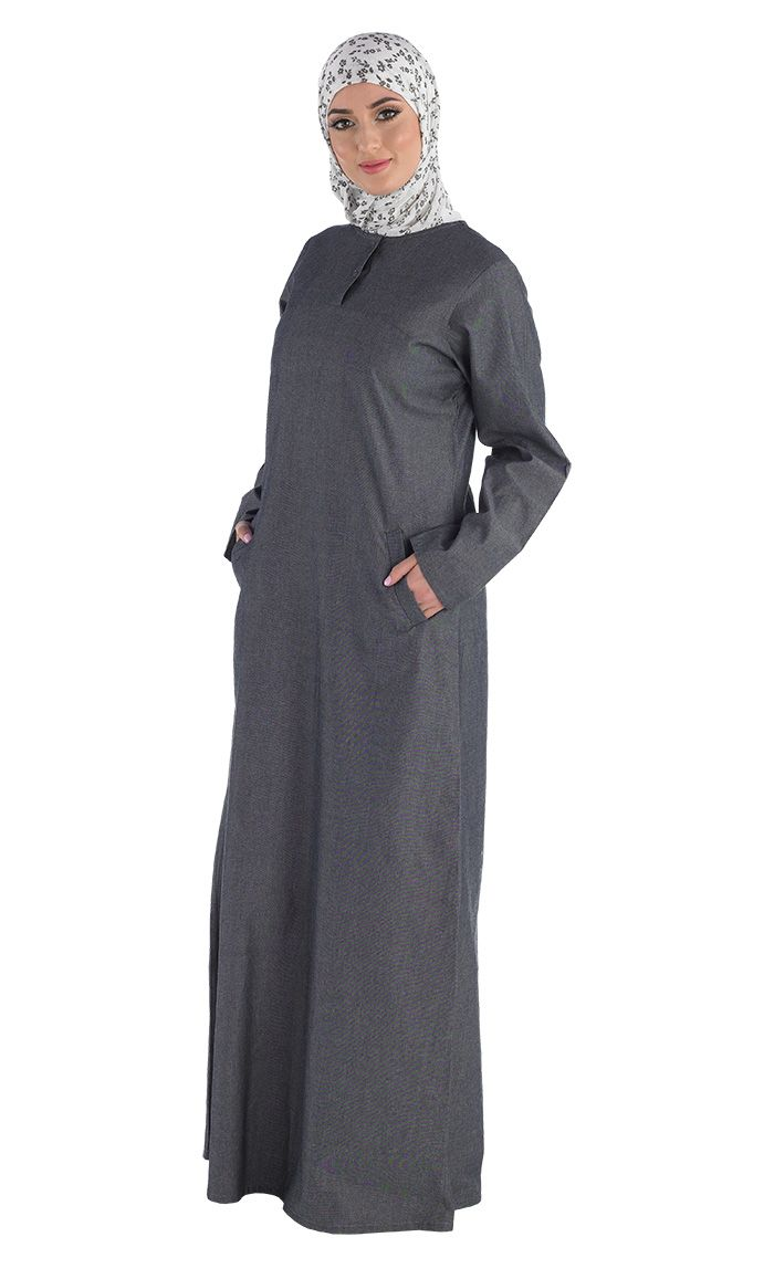 The Hajj Amatullah is now available. Our best-selling abaya for 4 years in a row, the Amatullah abaya is now available in chambray. Perfect for Hajj or Umrah, and any other occasion!