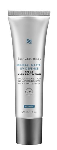 SkinCeuticals Mineral Matte UV Defense SPF 30 – a high protection sunscreen with 100% weightless mineral filters for UVA/UVB oil-absorbing protection.